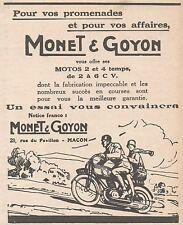 Z9063 Motos MONET & GOYON -  Pubblicità d'epoca - 1928 Old advertising