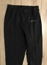 Champion Kids Black Jogging Legging Trousers Medium Polyester 28L Cotton Blend