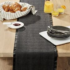 """Crate & and Barrel BOWRY FELT Table Runner-90"""" x 14"""" NEW with tags! - NEW- NWT"""