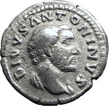 Divus ANTONINUS PIUS 161AD CONSECRATIO Pyre Ancient Silver Roman Coin i64702