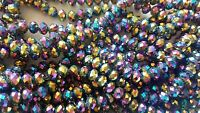 Joblot of 10 strings (720 beads) 8mm Rainbow Crystal beads new wholesale