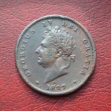 George IV 1827 copper penny - rare date