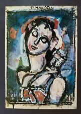 """Georges Rouault """"Blue Bird""""  Mounted Offset Color Lithograph 1971"""