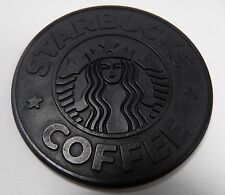 VINTAGE 1988 STARBUCKS COFFEE SIREN BLACK RUBBER COASTER UMBRA
