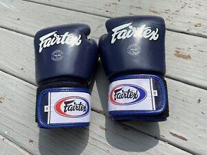 Fairtex Muay Thai Gloves Navy Blue 10oz - Fairtex Boxing Muay Thai MMA