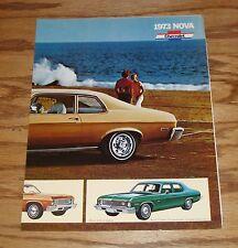 Original 1973 Chevrolet Nova Facts Features Sales Sheet Brochure 73 Chevy