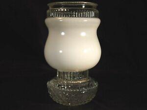 "8"" mushroom faceted glass globe shade 3 3/4""-4"" fitter"