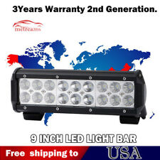 "9""inch LED Work/Fog Light Bar Spot Flood Combo White color truck Offroad 54W"