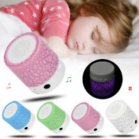 Portable Mini Stereo Bass Speakers LED Music Player Wireless TF Speaker FM Radio