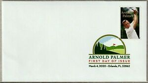 ARNOLD PALMER 2020 US GOLF #5455  FOREVER STAMP DCP FANCY CANCEL FIRST DAY COVER