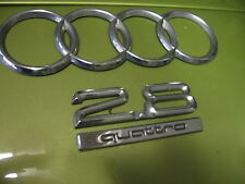 AUDI FOUR RING TRUNK LOGO 2.8 QUATTRO EMBLEMS