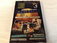 RARE 1994 TOPPS STADIUM CLUB BASEBALL Factory Sealed 24k BOX SERIES 3