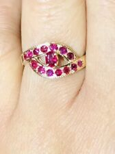14k Solid Yellow Gold Ruby Band Ring 2.10 GM Size 6.50