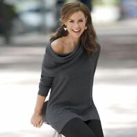 Versatile tunic Cowl Neck Any Which Way Sweater NEW