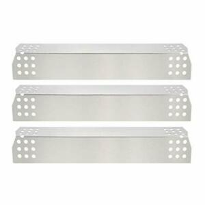 GFTIME 37CM Heat Plate Nexgrill 720 Stainless Steel Flame Tamer Shield Pack of 3
