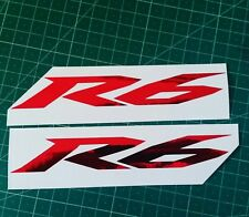 2x yamaha R6 stickers Chrome red ALL COLOURS pick (ANY SIZE) decal yzfr6 oil yzf