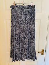 Blue Roman Floral Maxi Skirt Size 16 (6990)
