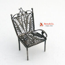 Miniature Chair Sterling Silver
