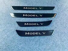 für Tesla Model Y Zubehör Teile Edelstahl Beschützer Schutz Einstiegsleisten 20