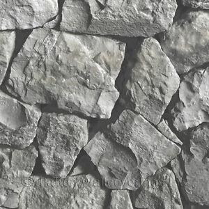 Spanish Stone Wallpaper Grey, Black Norwall Wallcovering LL36218