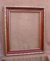 Superbe cadre laqué Napoléon III en excellent état - feuillure : 50 x 40 cm