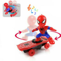 Toys Music Skateboard Electric Rotating Gift 360° Rotation Scooter Spiderman Toy