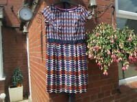 BODEN PRETTY SILK MIX  Kensington Dress SIZE 8R -................X