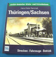 Archiv deutscher Klein- und Privatbahnen. Thüringen/Sachsen. Rammelt. transpress