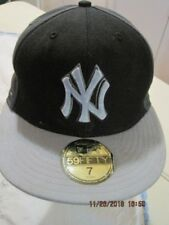 NEW YORK YANKEES New Era 59Fifty MLB Baseball Ball Cap Fitted Black & Greys NEW
