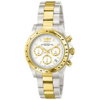 Invicta Men's Watch Speedway White and Gold Tone Dial Chronograph Bracelet 9212
