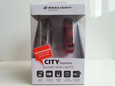 New Reelight City Supreme BACKUP bike bicycle front rear light set no batteries