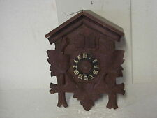 Vintage Brown Musical Empty Cuckoo Clock Case parts repair G