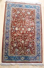 Orientteppich / China Seide Handgeknüpft 132 x 78 cm ca. 8100000 Knoten / qm