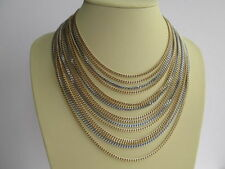Unbranded Silver Necklace Vintage Costume Jewellery (1970s)