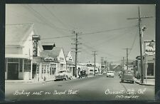 Sharp CA Crescent City RPPC 50's 2nd STREET Mobil Sign CARS CAFE by Art-Ray 1747