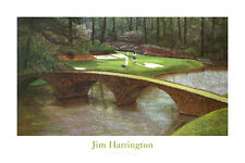 GOLF ART PRINT - Augusta the 12th by Jim Harrington 24x36 Course Golfing Poster