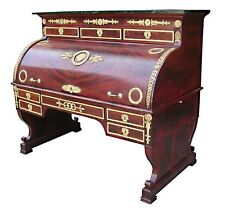 Magnificent French Empire Cylinder Desk with Bronze Trim #5102