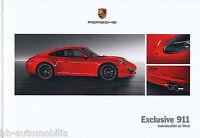 Porsche 911 Exclusive Prospekt 2011 6/11 Autoprospekt brochure brosjyre broschyr