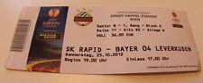 old TICKET EL Rapid Wien Austria - Bayer 04 Leverkusen Germany