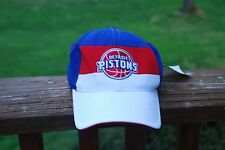 Detroit Pistons red, white and blue Adidas cap