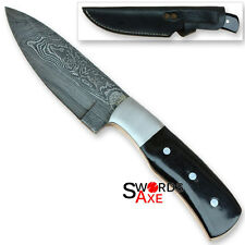 Rebel Wolf Exotic Hunting Damascus Steel 1095 High Carbon Steel Sharp Knife