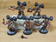5 FORGEWORLD CHAOS WORLD EATERS EATER RAMPAGER SQUAD JUMP PACKS PAINTED (198)