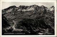 St. Christoph am Arlberg Tirol Postkarte ~1950/60 Blick auf die Arlbergstrasse
