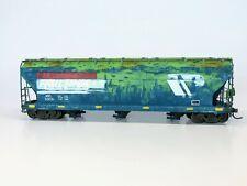 Custom Weathered HO Scale Montana Rail Link InterMountain 3-Bay Covered Hopper