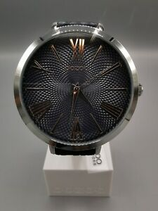 OOZOO Timepieces Damenuhr  - Leder-Armband - Dunkelblau