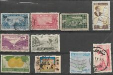 COLLECTION OF 10 LEBANON USED STAMPS