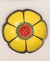 Vintage Haeger Mid-Century Modern Sunflower Ceramic Flower Ashtray