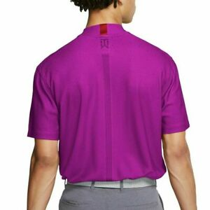 Men's Nike Dri-Fit Tiger Woods Mock-Neck Golf Top CT6078-551 Vivid Purple ALL SZ