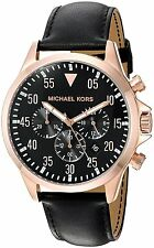 Michael Kors Gage Chronograph Leather Mens Watch MK8535