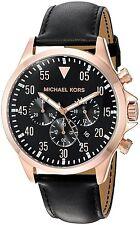 Michael Kors Gage Chronograph Leather Mens Watch MK8535